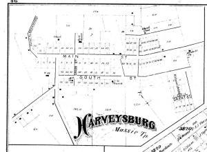1875 Map of Harveysburg